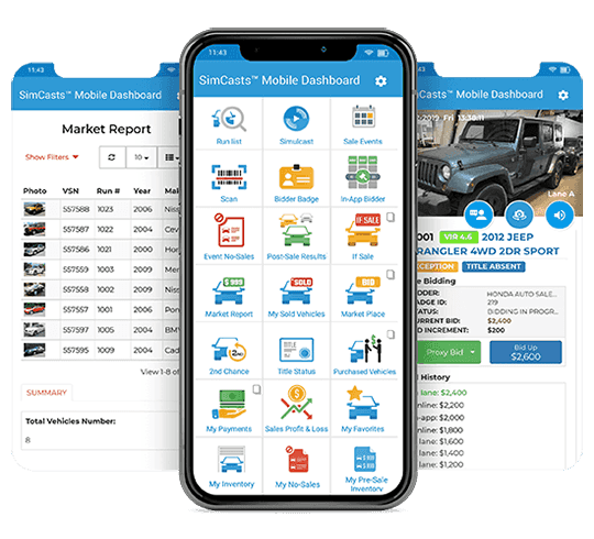 Simcasts Mobile Dashboard